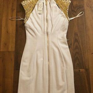 Bebe stud shoulder dress